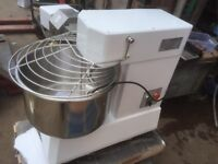 TAKEAWAY BREAD CAFE RESTAURANT SPIRAL DOUGH MIXER 40L FOR PIZZA AND BAKERY DUAL CHAIN MOTOR 40 LITRE