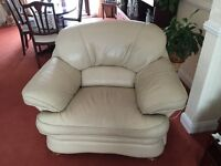 3 piece suite; three seater settee and two arm chairs