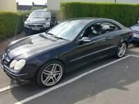 Mercedes clk 240 auto petrol coupe black leather swap for Van vito