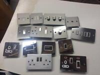 JOBLOT Low Profile 'SLIM' decorative switches,sockets, dimmers Ex-Display