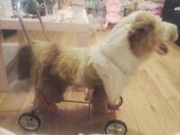 vintage nylena walker ride on plush dog