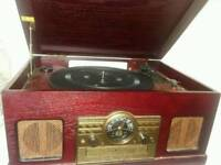 Multi functional retro record player