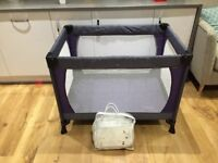 John Lewis Travel Cot and Mattress Enhancer