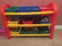 3 tier Kids toy storage