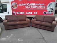 3&2 seater sofa in brown corduroy fabric £249
