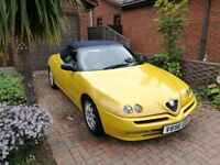 Alfa Romeo Spider, Lusso,2.0 twin spark, Lady owner past 10 years, 65,800mls from new, 1 year mot