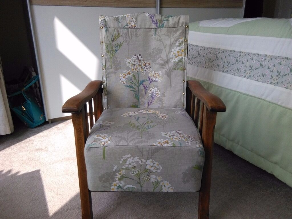 William Morris childs chairin Norwich, NorfolkGumtree - William morris childs chair .re covered has original springs in the seat ,reclines . Circa 1950 w45 xd48xh70 cm