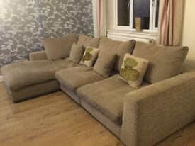 Beautiful Comfortable Large Family Corner sofa - excellent condition £330
