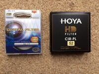 Hoya 52mm HD Digital Circular Polarising & UV Filter Kit