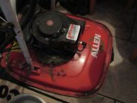 Allen hover mower 2 stroke petrol, ideal for banks and large areas.