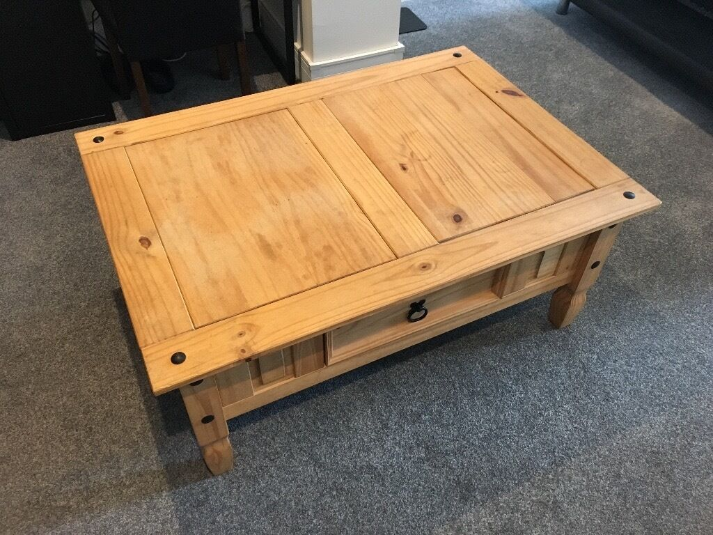 Mexican Pine Coffee Table Large Mexican Pine Coffee Table W Drawer In Yateley Hampshire