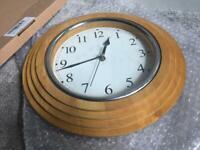 Beech wooden wall clock
