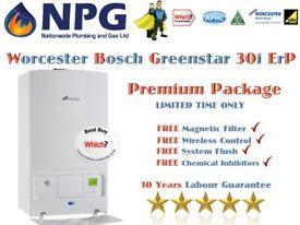 Worcester Bosch Greenstar 30i ErP Inc Install Magnetic Filter Control Wireless Clock Chemical Flush