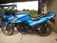 Kawasaki GPZ500s-spares or repair, runs and rides