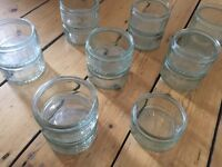 Job lot of 17 glass dishes / ramekins - for baking/serving, use as candle holders, favours etc