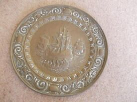 Old brass plate good condition