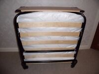 Quality Folding Bed As New Wool & Cotton Filled Mattress