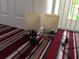 Bedside lamps x2