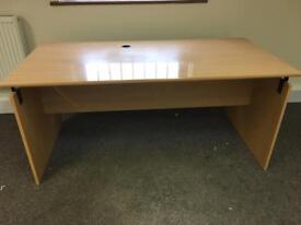 Beech Panel end Desk 1600