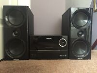 Phillips micro music system with twin speakers (DCM3020)