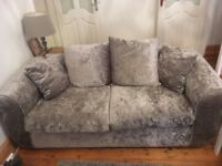 Crushed velvet furniture set