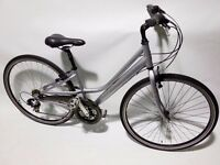"LIGHTWEIGHT RALEIGH 15"" LADIES HYBRID BIKE FULLY SERVICED COST £235 NEW"