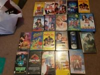 Lots of vhs tapes