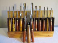 Set of Woodworking/Carving Chisels and Gougers
