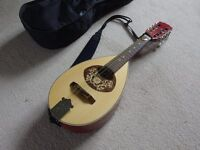 Mandolin -Portugeuse style Electro Acoustic AS NEW with case, Strap and Picks