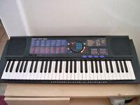 Yamaha PortaTone PSR-180 61 key electronic keyboard organ synthesiser with power supply