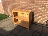 Oak Book Shelf/Sideboard