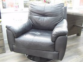 Black Swivel Armchair