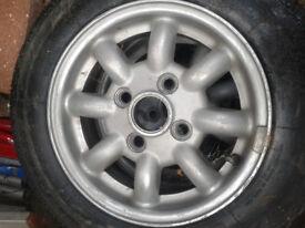 Minilite Alloy Wheels for Classic Mini