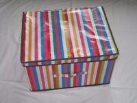 Kids Colourful Striped Storage Box Chest