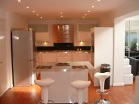 COMPLETE KITCHEN INC. AEG APPLIANCES/WORKTOPS. HIGH GLOSS WHITE/BRUSHED STAINLESS STEEL.