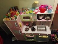 Toy kitchen with loads of accessories job lot