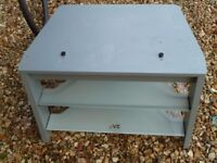 Grey & frosted glass corner TV stand free