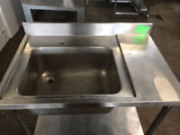 STAINLESS STEEL SINK WITH SHELF