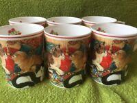 Kingsbury Fine Bone China mugs with cat design (6)