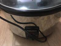 Pre owned Morphy Richards Oval stainless steel slow cooker
