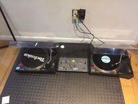 Technics SL-1210 Turntables MK2 X 2 + Citronic Mixer