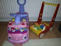 Baby walker and ride on toy car toddler