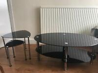 Beautiful Glass Coffee Table with 2 side tables - Only £35