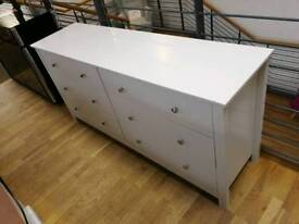 Light grey 6 drawer chest of drawers (slight damage) see pics