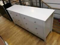 Light grey 6 drawer chest of drawers (slight damage) see pics