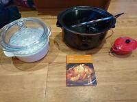 Kitchen bundle...slow cooker oven dish/steamer