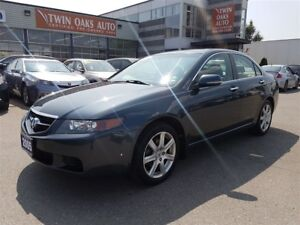 2005 Acura TSX 6 SPEED - LEATHER - SUNROOF - CERTIFIED!