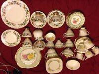 3 Fine bone china tea sets