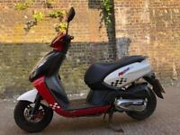FULLY WORKING 2014 Peugeot Kisbee Sportline 100cc learner scooter 100 cc not 50cc 125cc moped mot