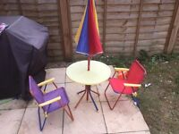 childrens outside table and chairs